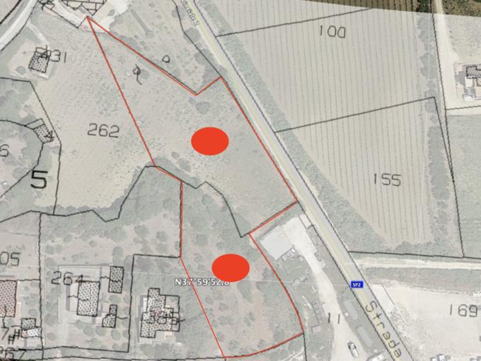 sovrapposizione catastale 680x510 - Vendesi terreno industriale a Castellammare del Golfo